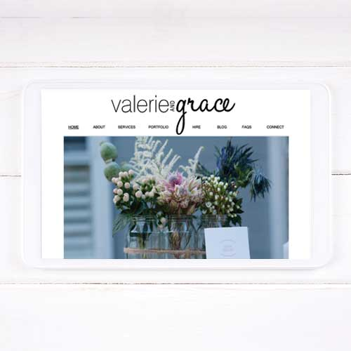 Valerie and Grace website